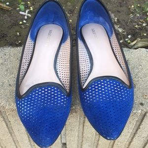 Sole Society blue flats. Gently used